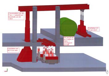 3D ontwerpen worden op voorhand gemaakt
