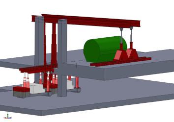 engineering, 3d tekening van portieken in opstelling