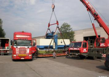 materiaalwagen voor industriële verhuis