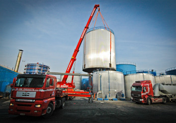 plaatsen van silo's, verplaatsen van silo's de groote nv