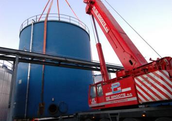 verplaatsen van silo's, verhuis van silo's, kraanverhuur de groote